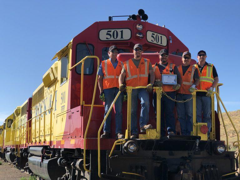 Engineers on train